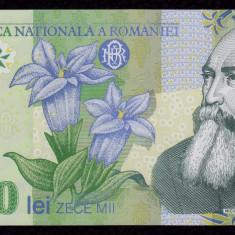 ROMANIA, 10000 LEI 2000, UNC_polimer, Ghizari_serie 004C2231930