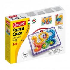 Joc Creativ Fanta Color Portabil Quercetti Creatie Imagini Mozaic 160 Piese - Jocuri arta si creatie