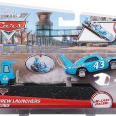 Masinuta Disney Cars Pit Crew Launcher The King - Masinuta electrica copii Mattel