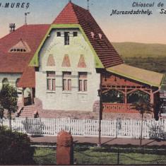 TARGUL MURES, CHIOSCUL DE VARA, CIRCULATA 1940 - Carte Postala Transilvania dupa 1918, Printata, Targu Mures