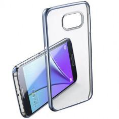 Husa Protectie Spate Cellularline CLEARCRYGALS7K Crystal Rigid Blue pentru Samsung Galaxy S7 - Husa Telefon