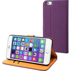 Husa Flip Cover Muvit 96951 Wallet violet pentru Apple iPhone 6 Plus - Husa Telefon
