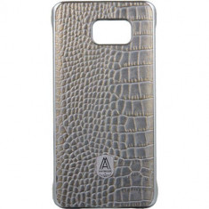 Husa Protectie Spate Anymode FA00019KGY Luxe Fashion Gray pentru Samsung Galaxy S6 Edge Plus - Husa Telefon