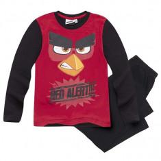 Pijama cu maneca lunga Angry Birds rosu/negru
