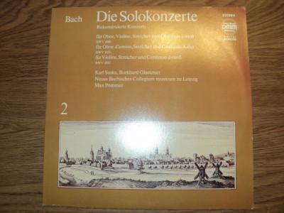 BACH DIE SOLOKONZERTE -  Vinil LP foto