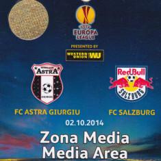 Acreditare meci fotbal ASTRA Giurgiu - FC SALZBURG 02.10.2014 Europa League - Bilet meci