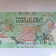 Insulele Cook, 10 dollars 1992 - UNC