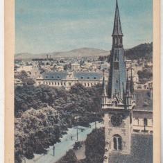 Bnk cp Orasul Stalin - Brasov - Vedere - circulata 1959 - marca fixa - Carte Postala Transilvania dupa 1918, Printata