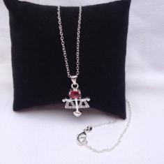 Lant, colier argint 925 dama model Red Libra - Lantisor argint, Femei