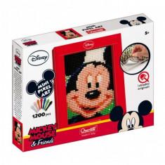 Joc Creativ Mini Pixel Art Quercetti Tablou Mickey Mouse 1200 Piese - Jocuri arta si creatie