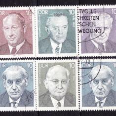 Timbre GERMANIA DDR 1982 = PERSONALITATI, SERIE COMPLETA - Timbre straine, Stampilat