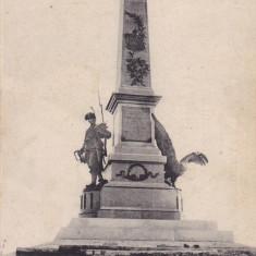 SALUTARI DIN TULCEA, MONUMENTUL COMEM. AL REALIPIRII DOBROGEI LA PATRIA MUMA - Carte Postala Dobrogea pana la 1904, Circulata, Printata