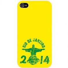Husa Protectie Spate Muvit 92027 Brazil Rio 2014 Drawing pentru Apple iPhone 4 / 4S - Husa Telefon