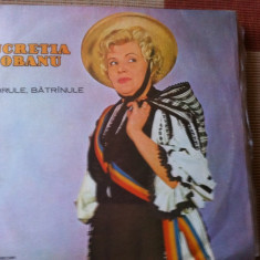 Lucretia ciobanu codrule batranule album disc vinyl lp muzica populara folclor, VINIL, electrecord