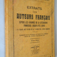 Extraits des auteurs francais - clasa a V- a 1929 - Manual scolar, Clasa 5, Limbi straine