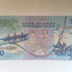 Insulele Cook, 50 dollars 1992 - UNC