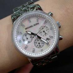 Ceas de dama Michael Kors Ladies Ritz Silver Tone Camille MK5020 - Ceas dama Michael Kors, Elegant, Quartz, Inox, Cronograf