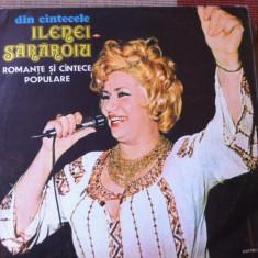 Ileana sararoiu din cantecele romante disc vinyl lp Muzica Populara electrecord folclor, VINIL