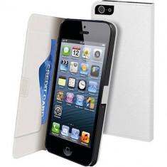 Husa Flip Cover Muvit 88045 Slim alba pentru Apple iPhone 5 / 5S - Husa Telefon