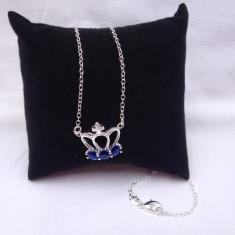 Lant, colier argint 925 dama model Blue Crown - Lantisor argint, Femei