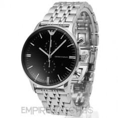 Ceas barbatesc Emporio Armani AR0389, Elegant, Quartz, Inox, Cronograf