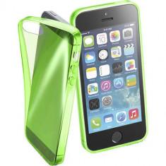 Husa Protectie Spate Cellularline FLUOCASEIPH5G Fluo Green pentru Apple iPhone SE - Husa Telefon CellularLine, iPhone 5/5S/SE