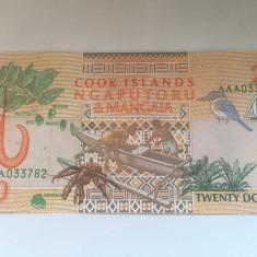 Insulele Cook, 20 dollars 1992 - aUNC