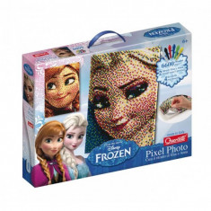 Joc Creativ Pixel Art Quercetti Tablou Frozen Elsa Sau Anna 6600 Piese - Jocuri arta si creatie