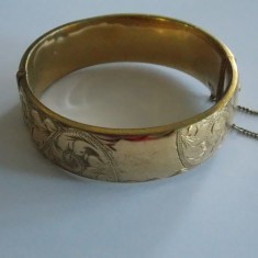 Bratara de aur de 9k cu interior de bronz - 49 - Bratara placate cu aur