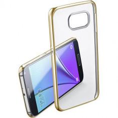 Husa Protectie Spate Cellularline CLEARCRYGALS7H Crystal Rigid Gold pentru Samsung Galaxy S7 - Husa Telefon