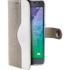 Husa Flip Cover Celly 103661 Onda Aurie pentru Samsung Galaxy Alpha - Husa Telefon