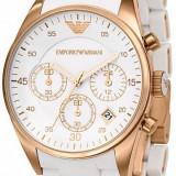 Ceas EMPORIO ARMANI alb, Cronograph, ceas de dama