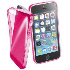 Husa Protectie Spate Cellularline FLUOCASEIPH5P Fluo Pink pentru Apple iPhone SE - Husa Telefon CellularLine, iPhone 5/5S/SE