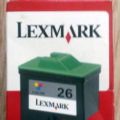 CARTUŞ ORIGINAL LEXMARK 26 (color) - Cartus imprimanta
