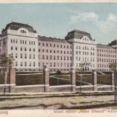 TARGUL MURES, LICEUL MILITAR MIHAI VITEAZUL - Carte Postala Transilvania dupa 1918, Circulata, Printata, Targu Mures