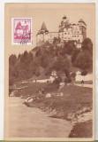 Bnk cp Bran - Castelul - uzata 1957, Circulata, Printata