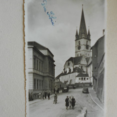 SIBIU - CENZURATA - CIRCULATA - Carte postala tematica, Fotografie