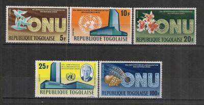 Togo.1965 20 ani ONU  ST.651 foto
