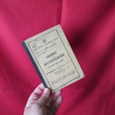 Carnet de asigurare 1941-1944 Casa centrala a asigurarilor sociale