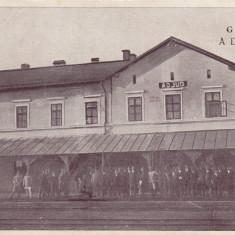 AIUD, GARA ADJUD, EDIT. PETRE V. BALACI, ADJUD, CIRCULATA 1923 - Carte Postala Transilvania dupa 1918, Printata