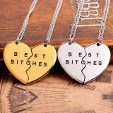 Pandantiv / Colier / Lantisor / Medalion - BEST BITCHES (SET 2 BUC) - Pandantiv fashion