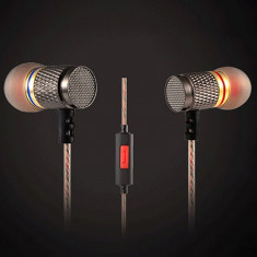 Casti Audio KZ-ED1 Entusiast Bass Microfon ORIGINALE 100% pt Samsung iPhone Sony, Casti In Ear, Cu fir, Mufa 3, 5mm, Active Noise Cancelling