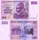 ZIMBABWE 500 dollars 2007 UNC!!!