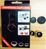 Cumpara ieftin Obiectiv universal Fisheye Lens 3 in 1 compatibil cu Smartphone / Tablete