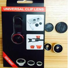 Obiectiv universal Fisheye Lens 3 in 1 compatibil cu Smartphone / Tablete