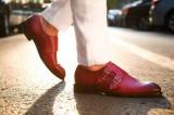 Cumpara ieftin Pantofi din piele double strap monk. Cod MONK 1. Disponibili in trei culori, 39, 40, 42, 44, Maro, Negru, Visiniu, Piele naturala