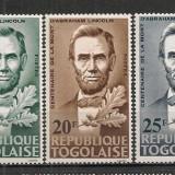 Togo.1965 100 ani moarte A.Lincoln-presedinte ST.646 - Timbre straine, Nestampilat