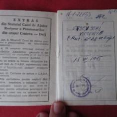 Carnet de membru - Casa de Ajutor Reciproc a pensionarilor, Craiova, anii 80