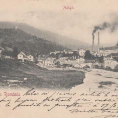 SALUTARI DIN ROMANIA, AZUGA VEDERE GENERALA, CLASICA CIRCULATA 1900 - Carte Postala Muntenia pana la 1904, Printata