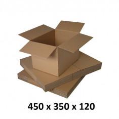 Cutie carton 450 x 350 x 120, natur, ondula C